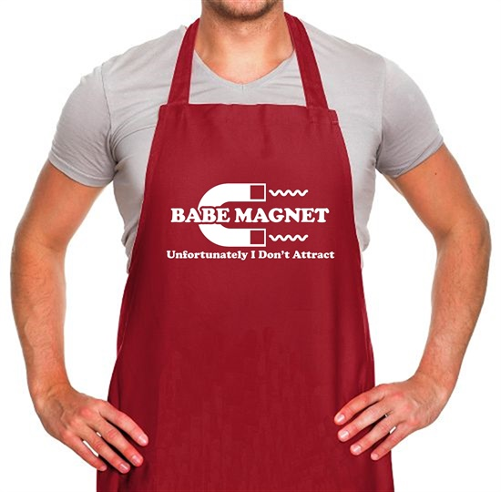 Babe Magnet Unfortunately I Don't Attract Apron