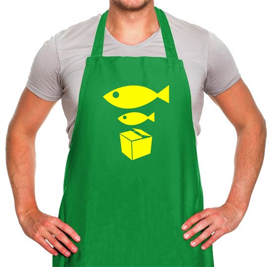 Big Fish Little Fish Cardboard Box Apron
