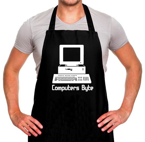 Computers Byte Apron