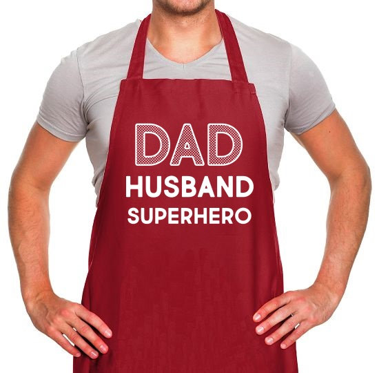 Dad, Husband, Superhero Apron