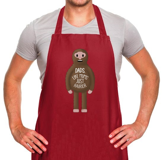 Dads: Like mums... but hairier Apron