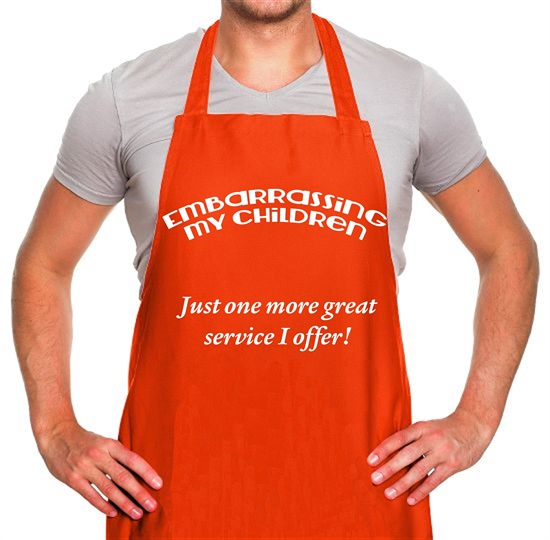 Embarrassing my children Apron