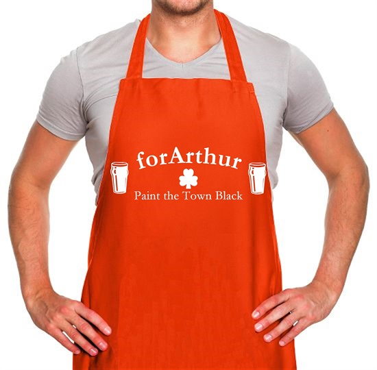 for Arthur! Paint the town black Apron
