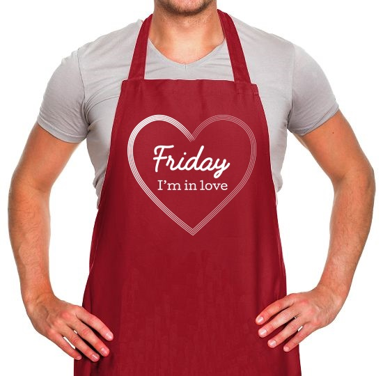 Friday I'm In Love Apron