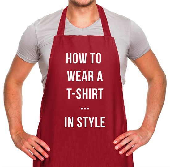 How To Wear A T-Shirt...In Style Apron