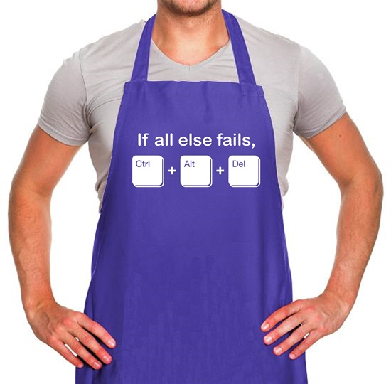 If All Else Fails, Ctrl Alt Delete Apron