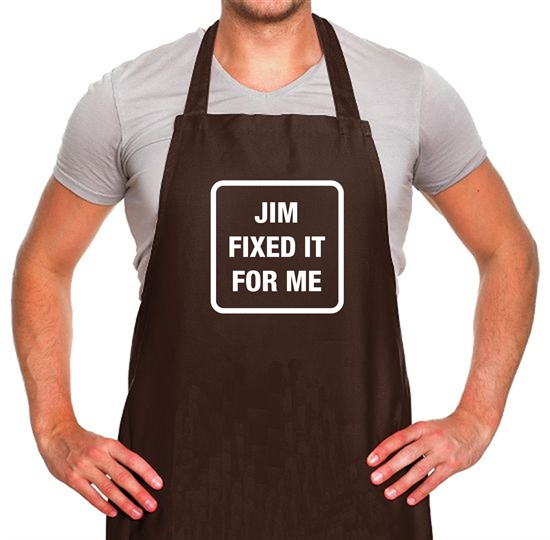 Jim Fixed It For Me Apron