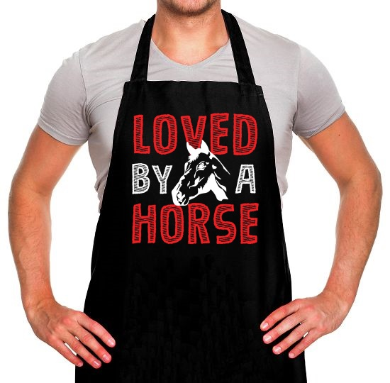 Loved By A Horse Apron