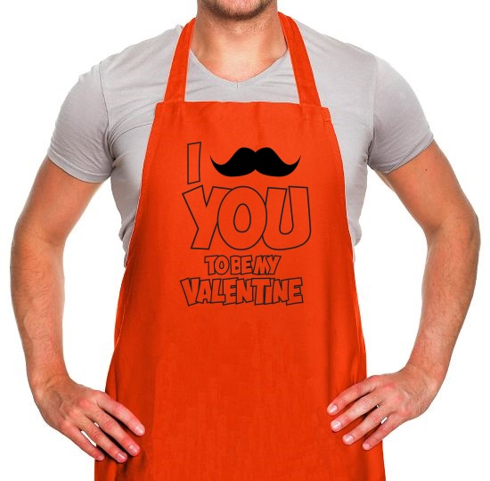 Moustache You To Be My Valentine Apron