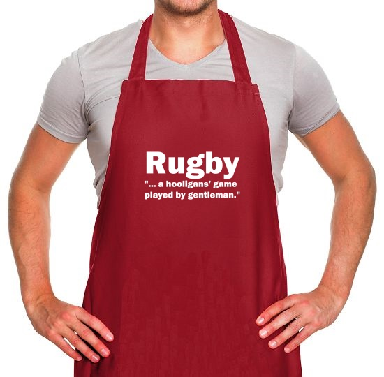 Rugby A Hooligans Game Apron
