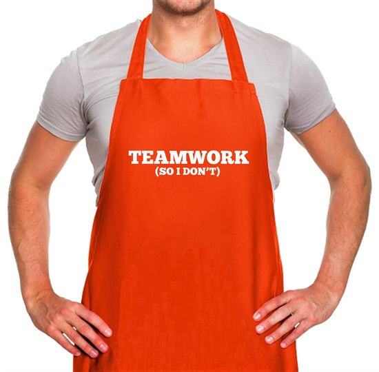 Teamwork (So I Don't) Apron