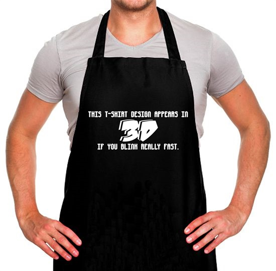This T-Shirt Appears In 3D If You Blink Really Fast Apron