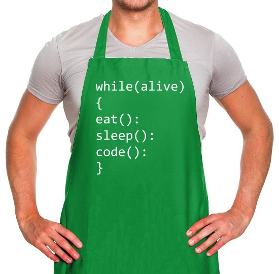 Eat, Sleep, Code Apron
