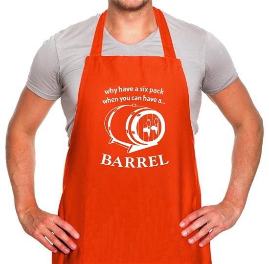 Why have a six pack when you can have a barrel Apron