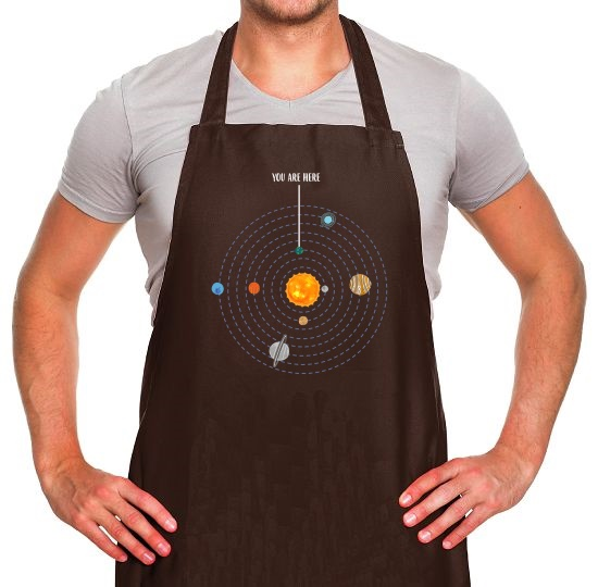 You are Here (Solar System) Apron