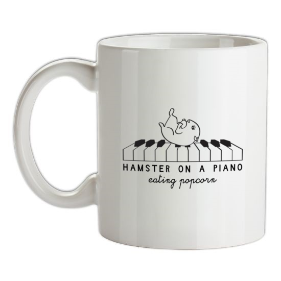 Hamster On A Piano Eating Popcorn t-shirts
