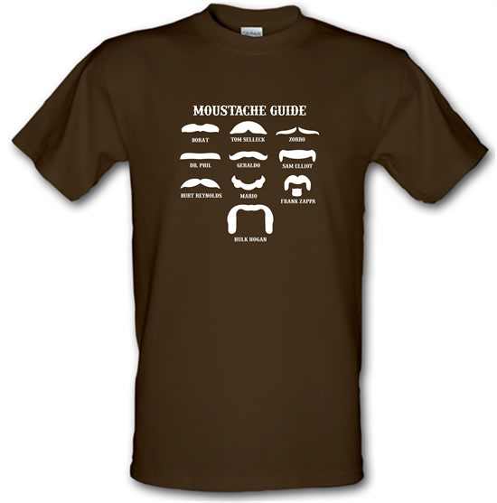Moustache Guide t-shirts