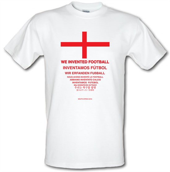We Invented Football t-shirts