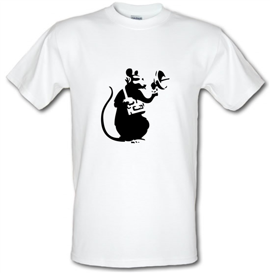 Banksy Listening Rat t-shirts