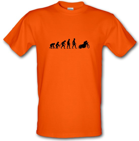 Evolution Of Man Speedway t-shirts