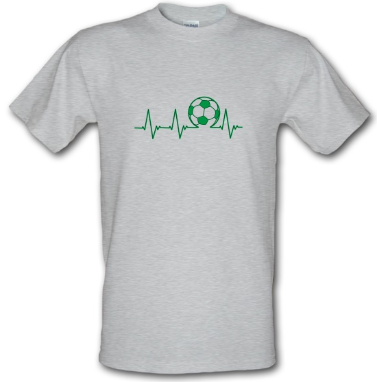 Football Heartbeat t-shirts