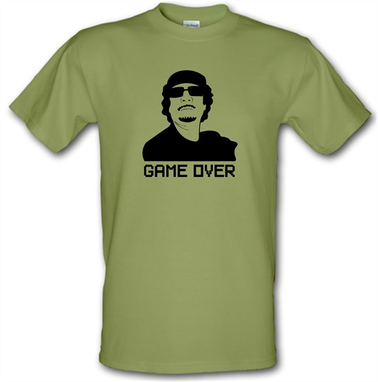 Game Over Gaddafi t-shirts