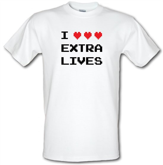 I Heart Extra Lives t-shirts