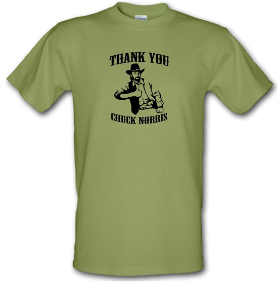 Thank you Chuck Norris t-shirts