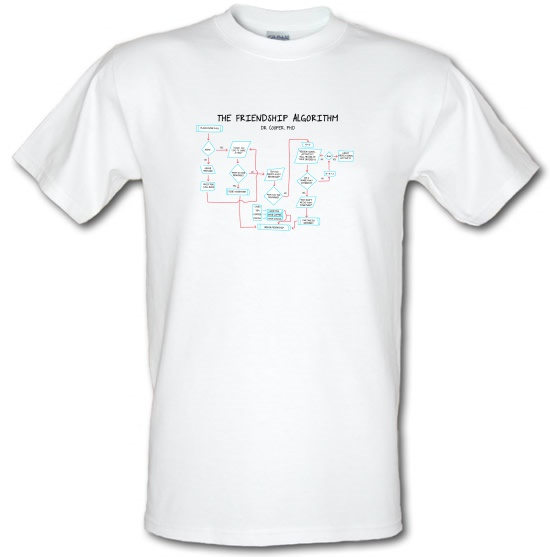 The Friendship Algorithm t-shirts