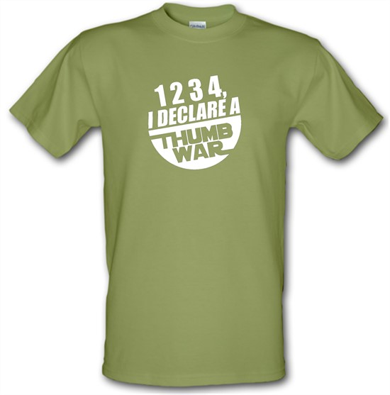 1234, I Declare A Thumb War t-shirts