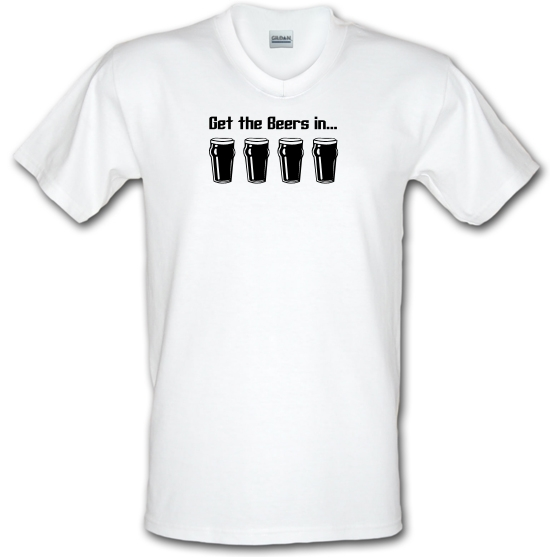 Get the beers in V-Neck T-Shirts
