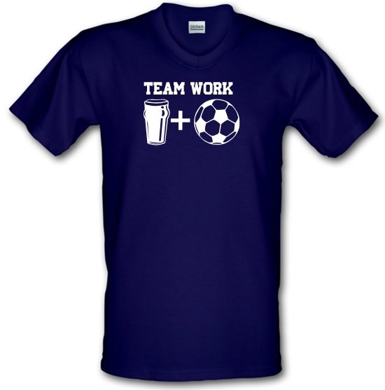 Teamwork, beer and football V-Neck T-Shirts