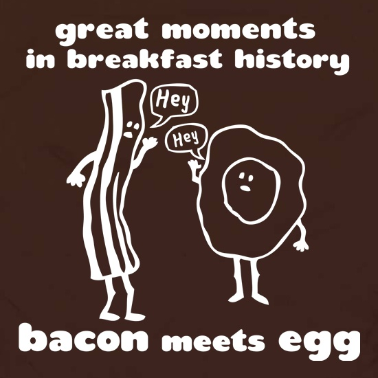 Great Moments In Breakfast History, Bacon Meets Egg Apron