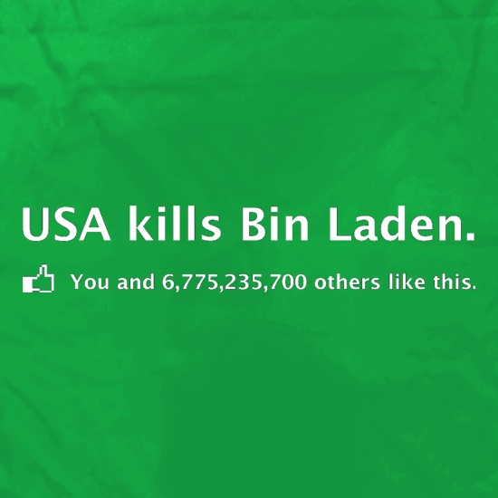 Bin Laden Facebook Apron