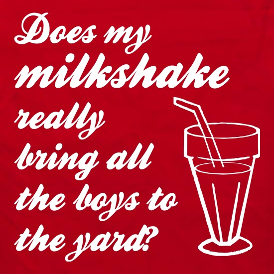 Does my milkshake really bring all the boys to the yard Apron