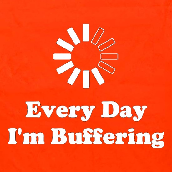 Every Day I'm Buffering Apron