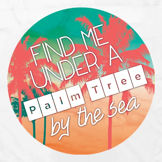 Find Me Under A Palm Tree By The Sea Apron
