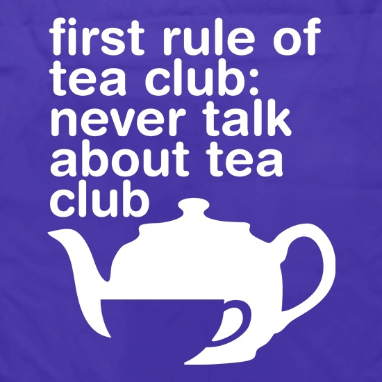 First Rule Of Tea Club Apron