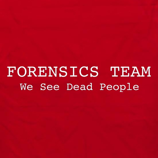 Forensics Team We See Dead People Apron