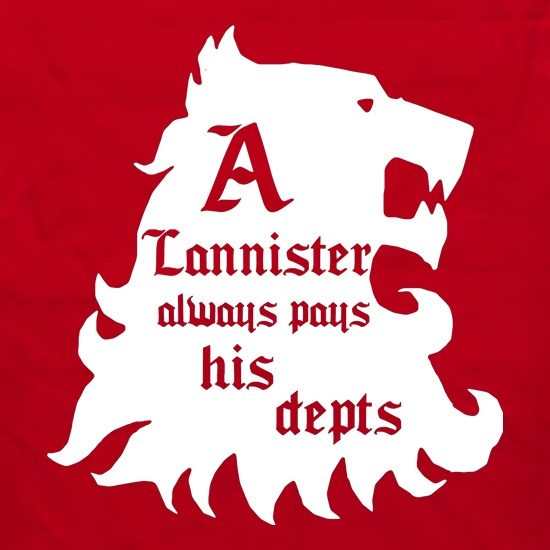 Game Of Thrones - A Lannister Always Pays His Depts Apron