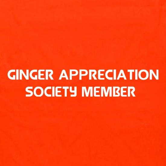 Ginger appreciation society member Apron