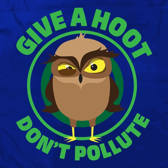 Give A Hoot, Don't Pollute Apron