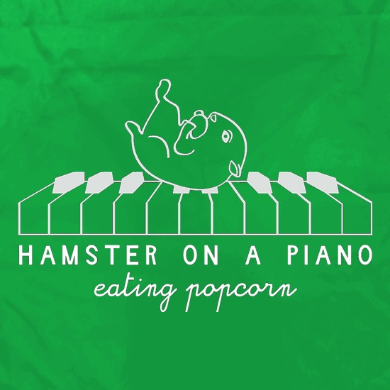 Hamster On A Piano Eating Popcorn Apron