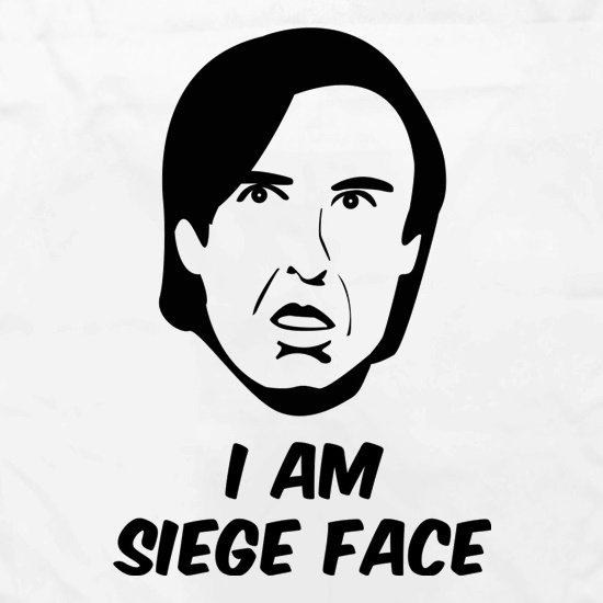 I Am Siege Face Apron