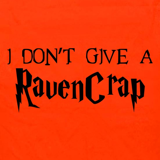 I Don't Give A RavenCrap Apron