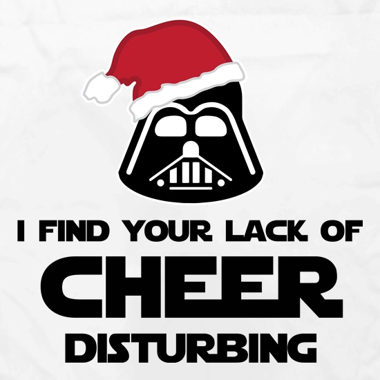 I Find Your Lack Of Cheer Disturbing Apron