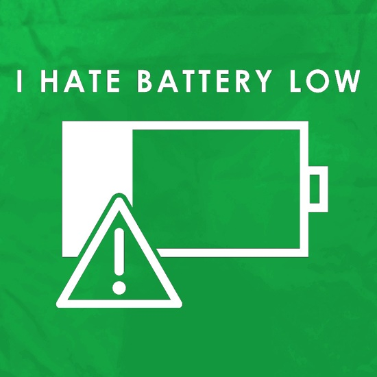 I Hate Battery Low Apron