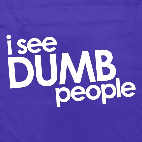 I See Dumb People Apron