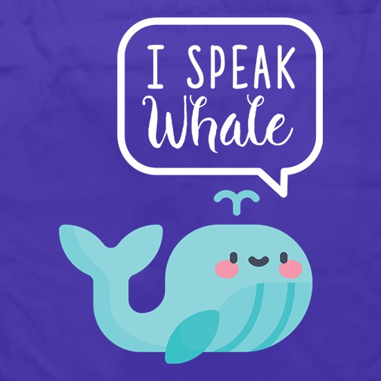 I Speak Whale Apron
