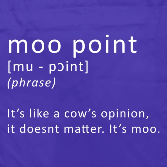 Moo Point Apron